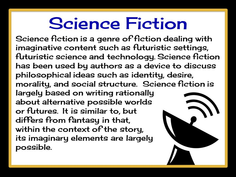 Essay of science fiction