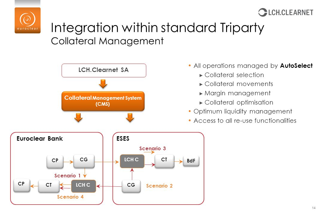 Integration within standard Triparty Collateral Management