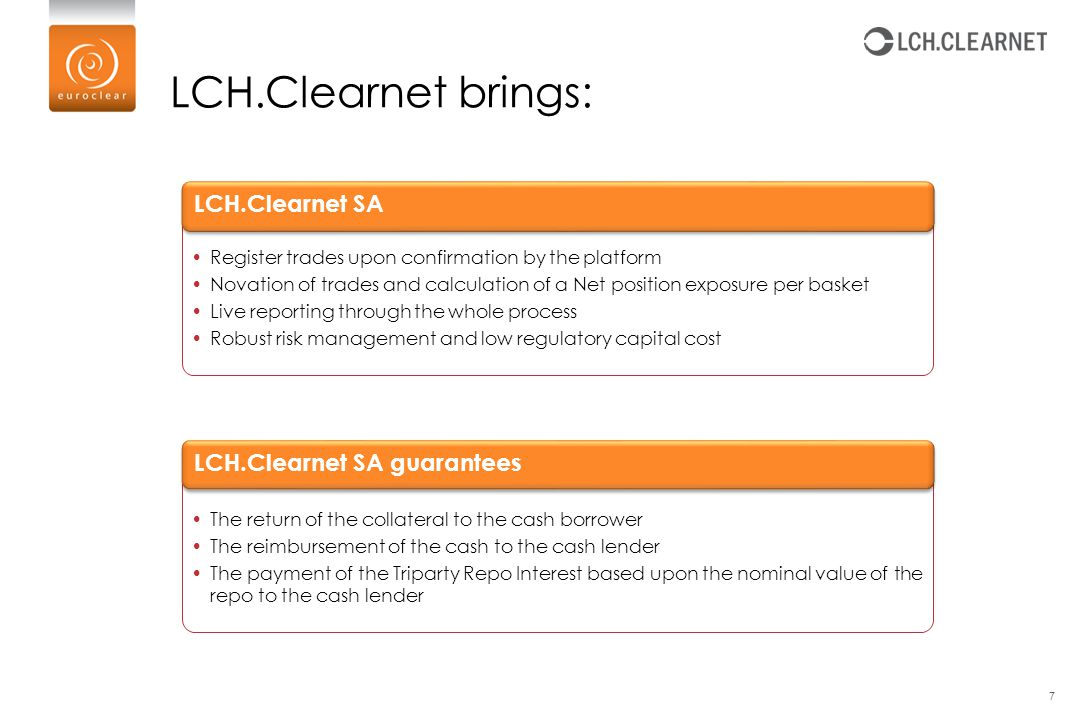 LCH.Clearnet brings: LCH.Clearnet SA LCH.Clearnet SA guarantees