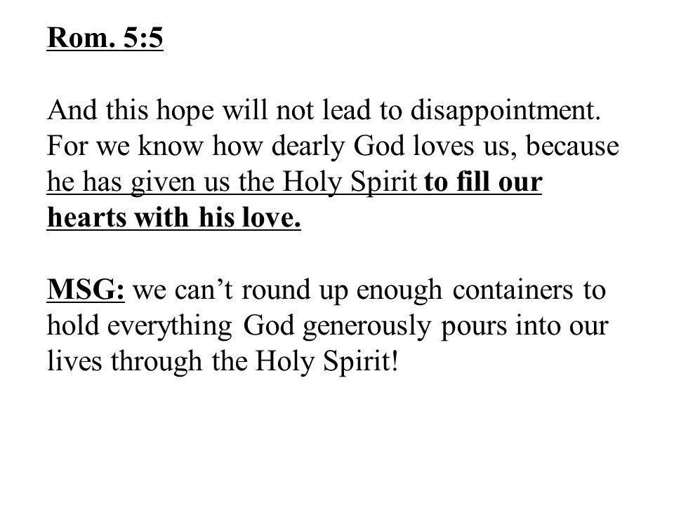 Rom. 5:5