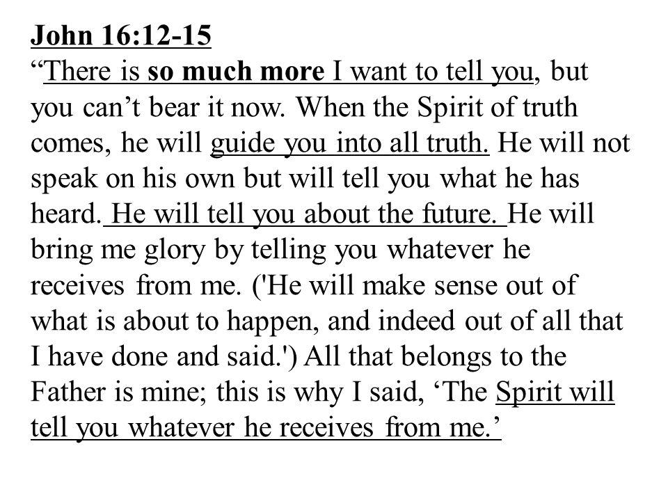John 16:12-15