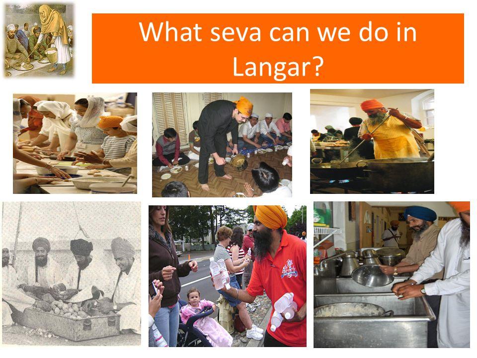What seva can we do in Langar