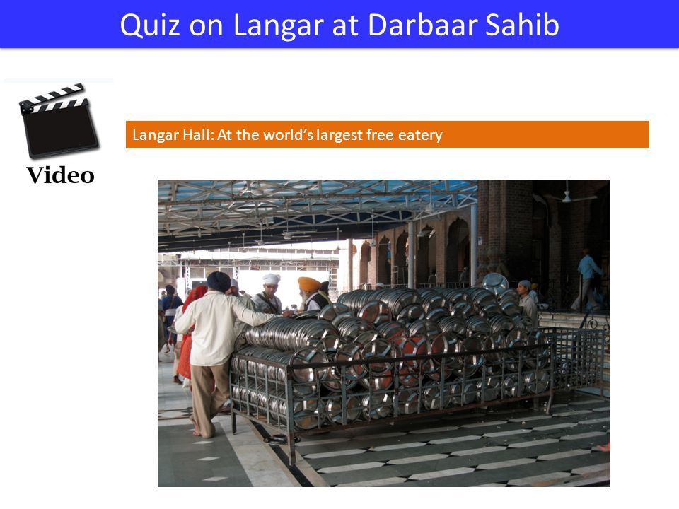 Quiz on Langar at Darbaar Sahib