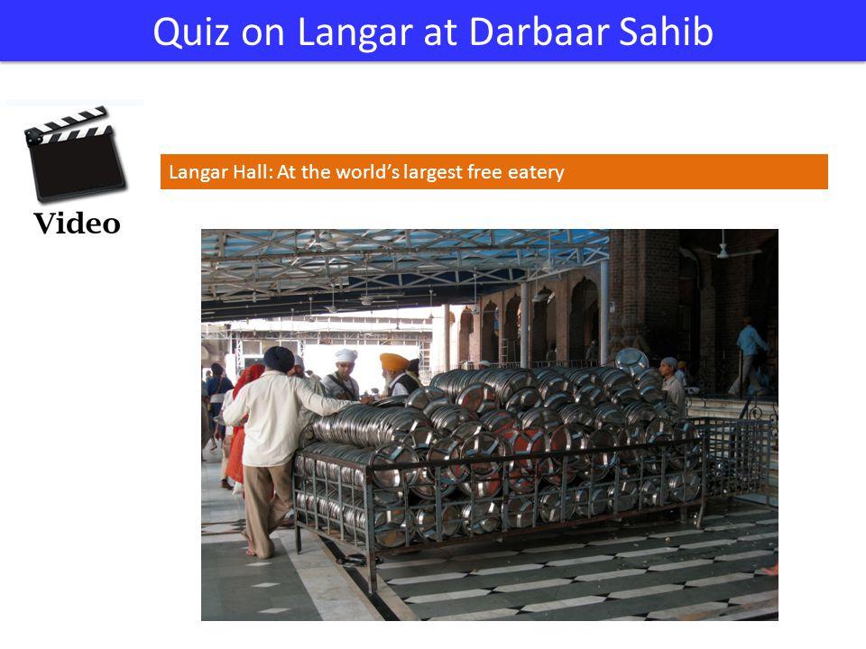 Quiz on Langar at Darbaar Sahib