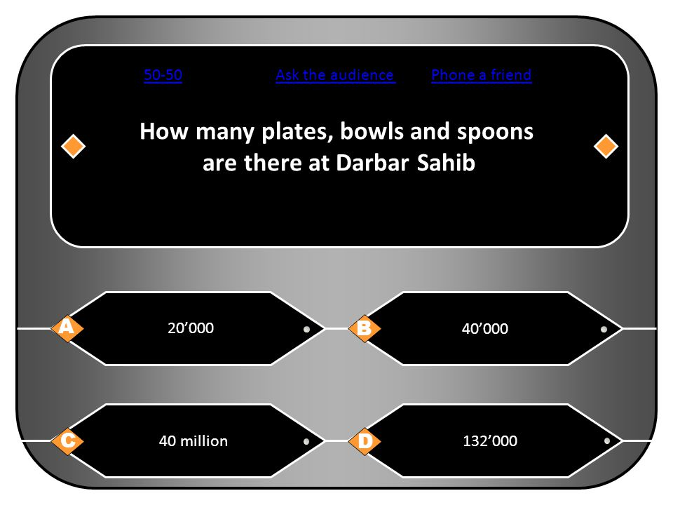 How many plates, bowls and spoons are there at Darbar Sahib