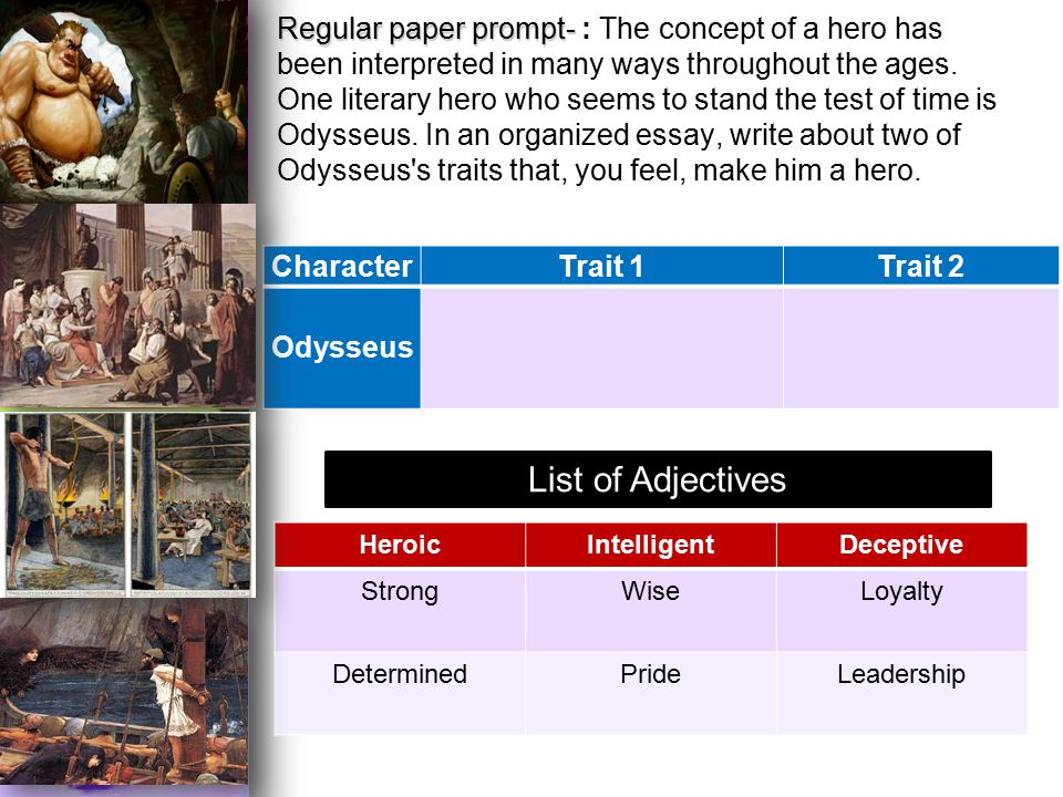 leadership qualities of odysseus throughout the book essay Telemachus-odysseus father son relationship throughout the last few books of the apply constructivist principles to classroom practice 3 characteristics of.