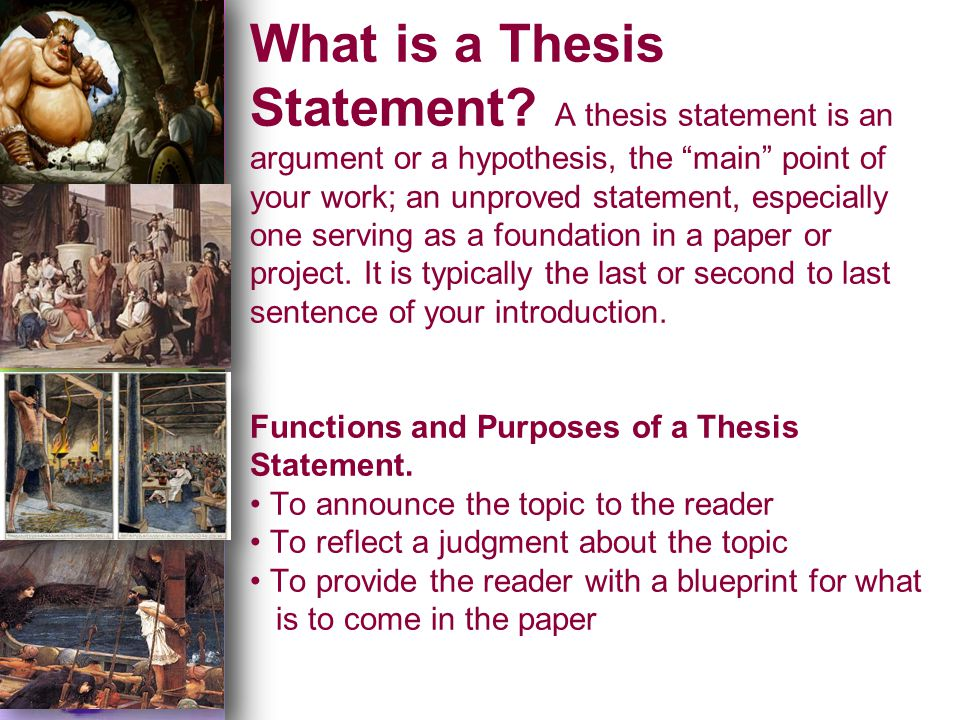 Odyssey thesis paper tutorial ppt download 7 what is a thesis statement malvernweather Image collections