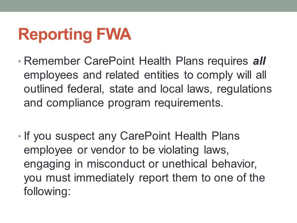Reporting FWA