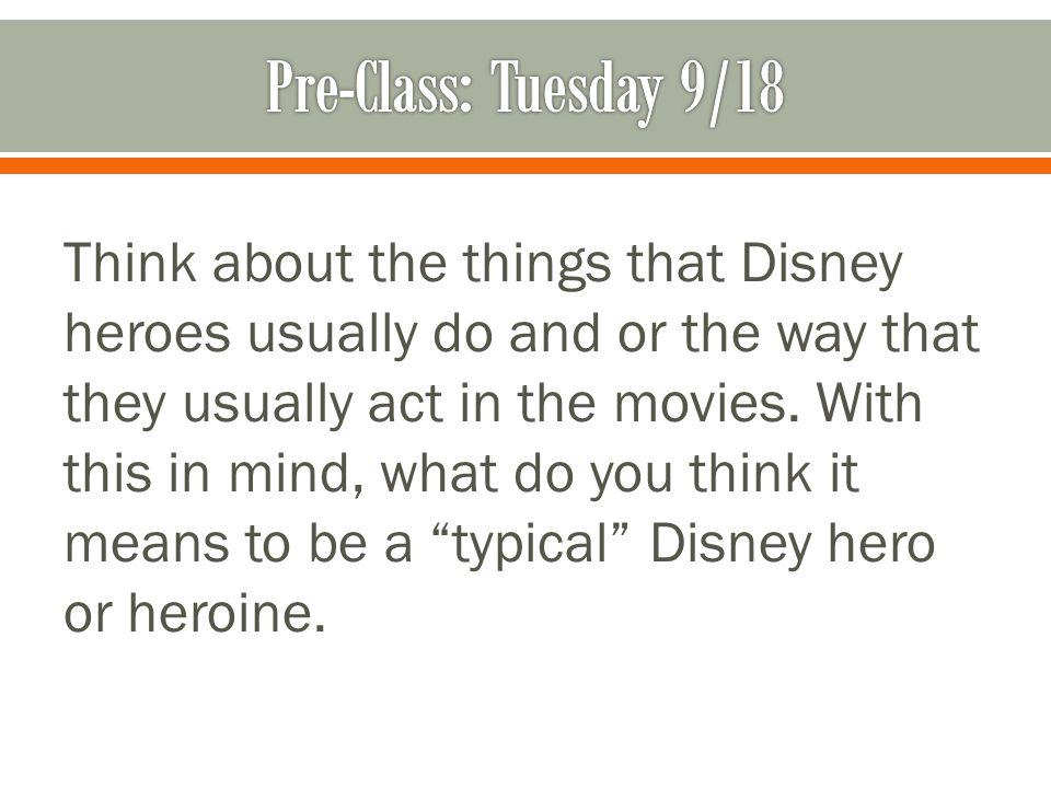 Pre-Class: Tuesday 9/18