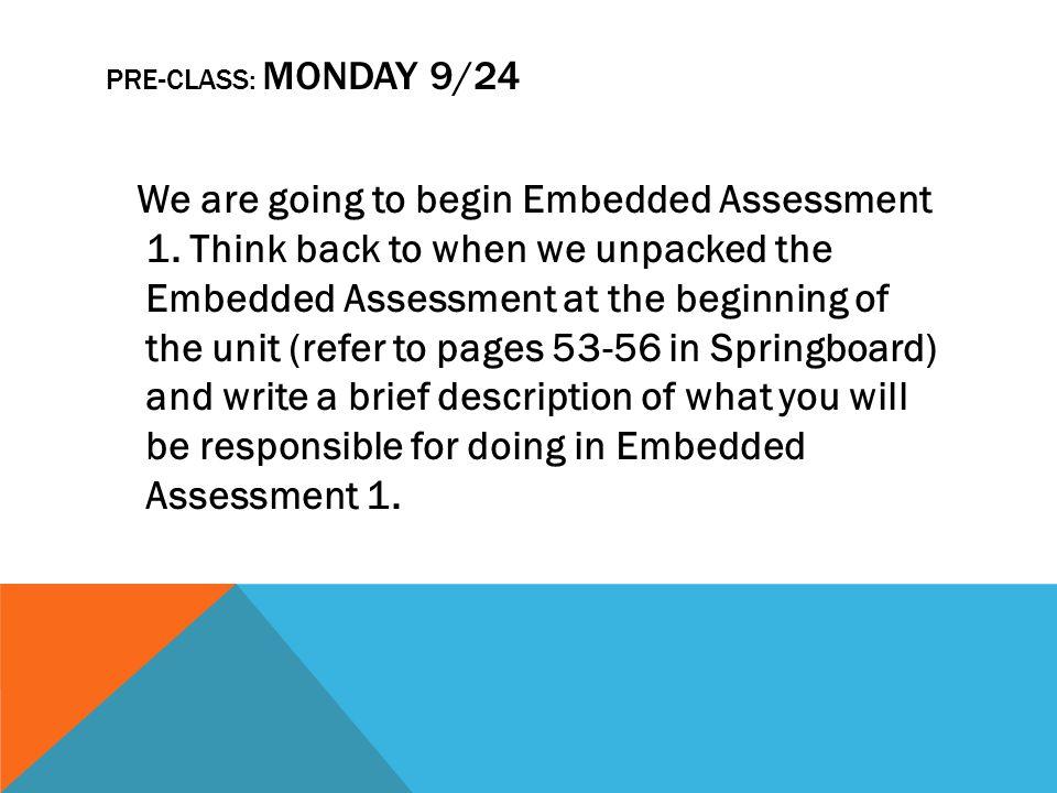 Pre-Class: Monday 9/24