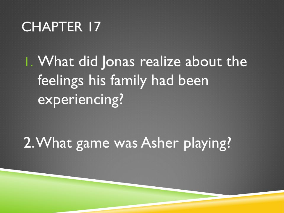 2. What game was Asher playing