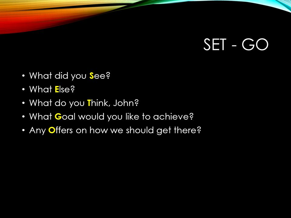 SET - GO What did you See What Else What do you Think, John