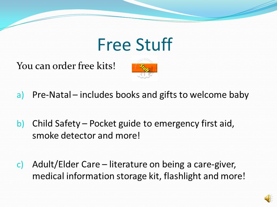 Free Stuff You can order free kits!