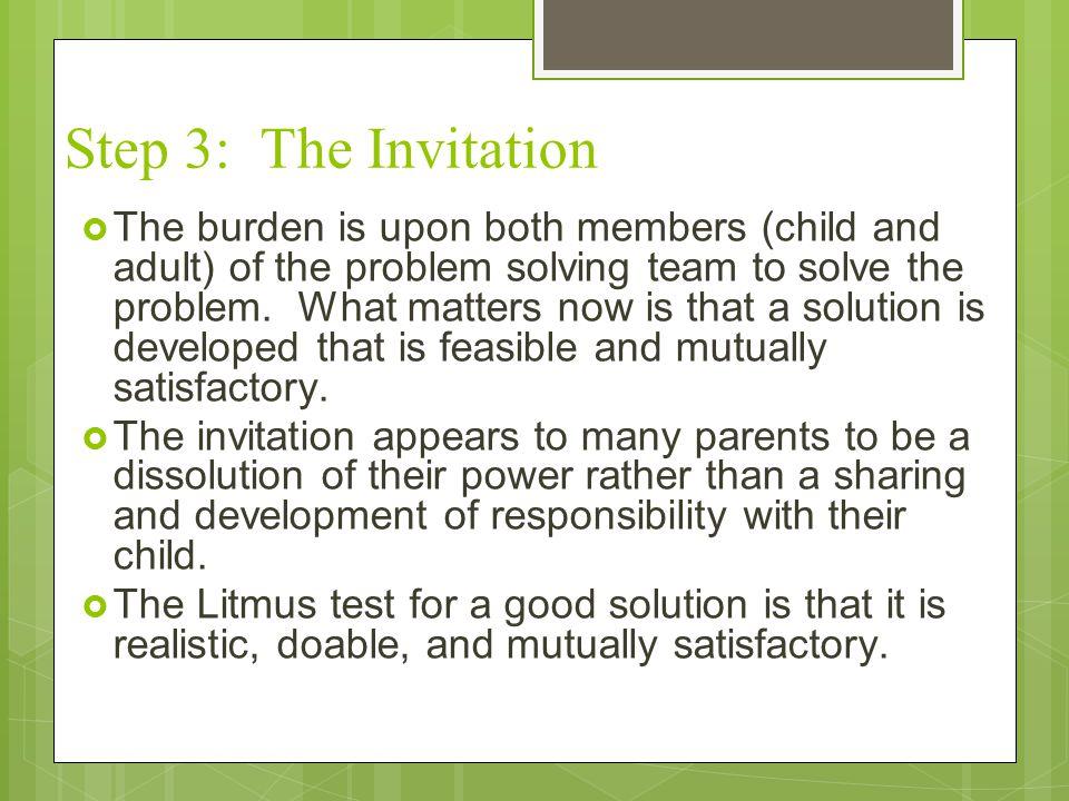Step 3: The Invitation