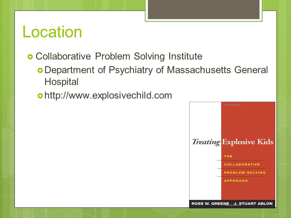 Location Collaborative Problem Solving Institute