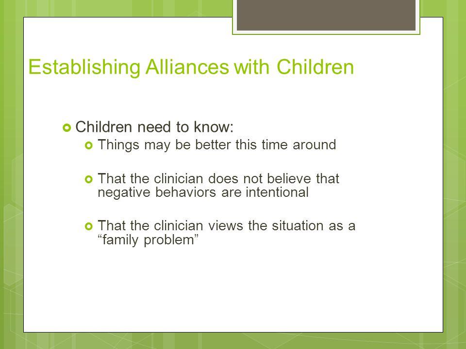 Establishing Alliances with Children
