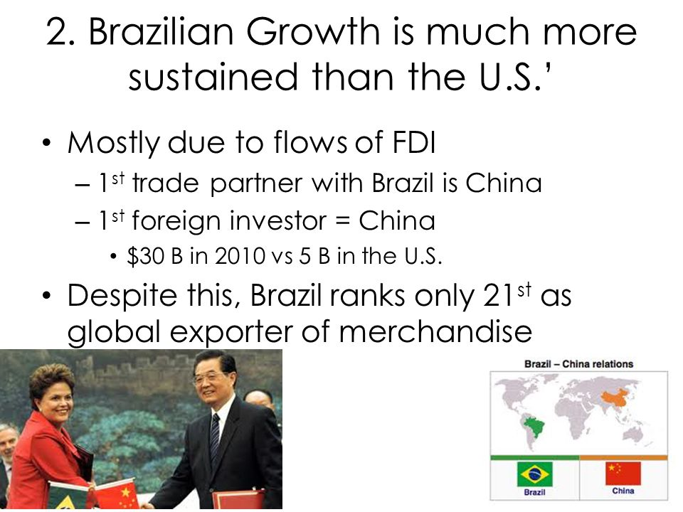 2. Brazilian Growth is much more sustained than the U.S.'
