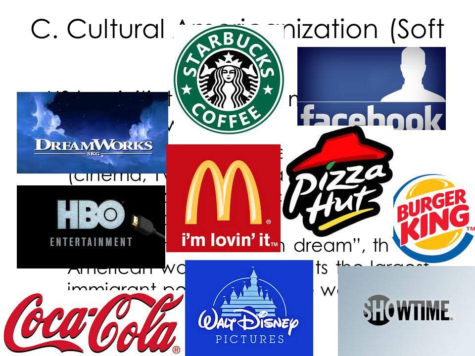 C. Cultural Americanization (Soft Power)