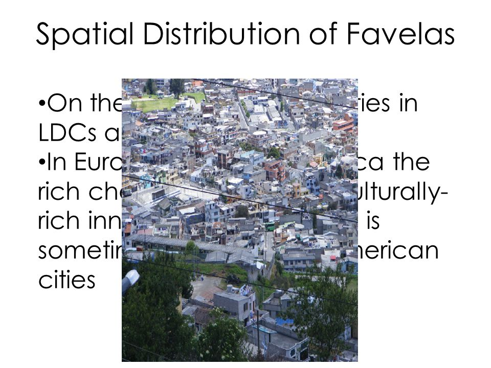 Spatial Distribution of Favelas