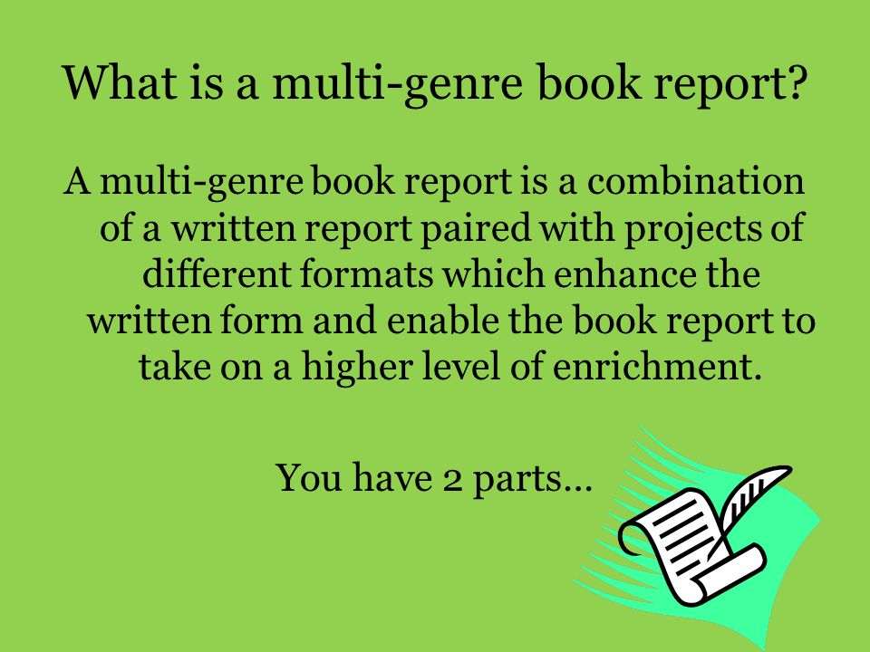 What is a multi-genre book report
