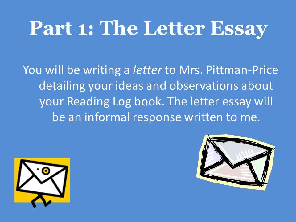 Part 1: The Letter Essay