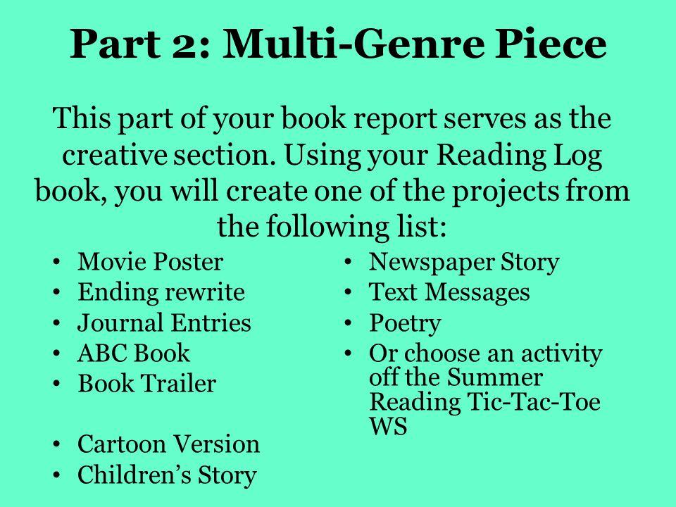 Part 2: Multi-Genre Piece