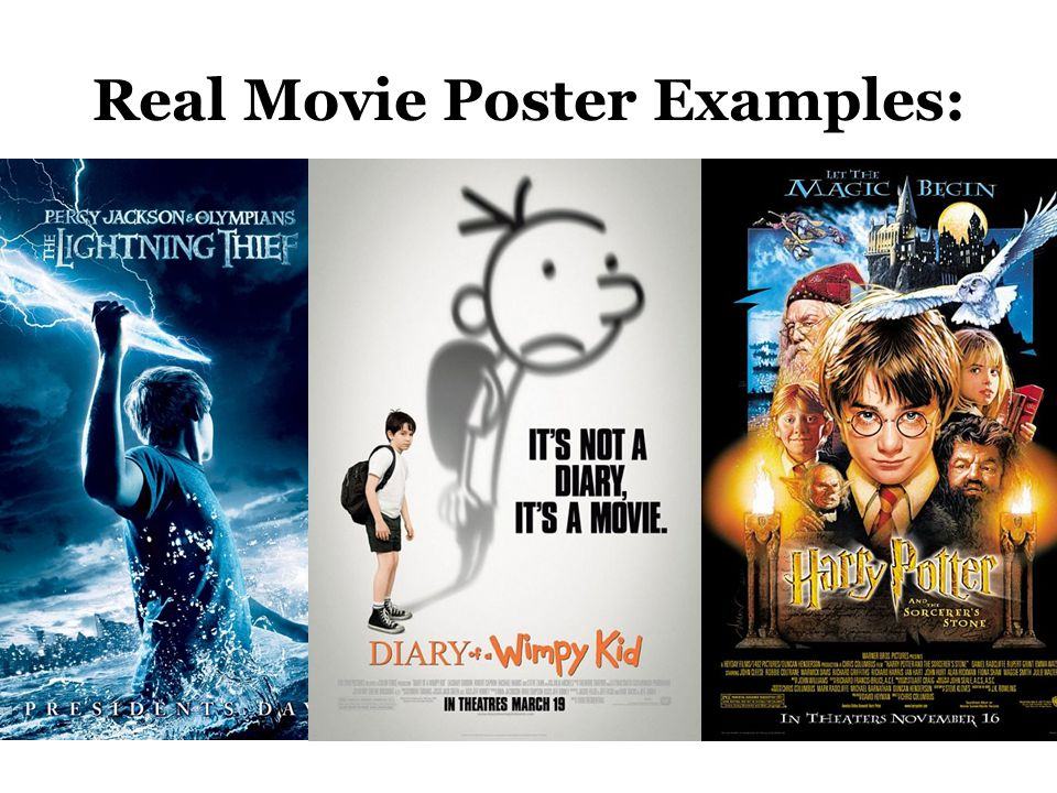 Real Movie Poster Examples: