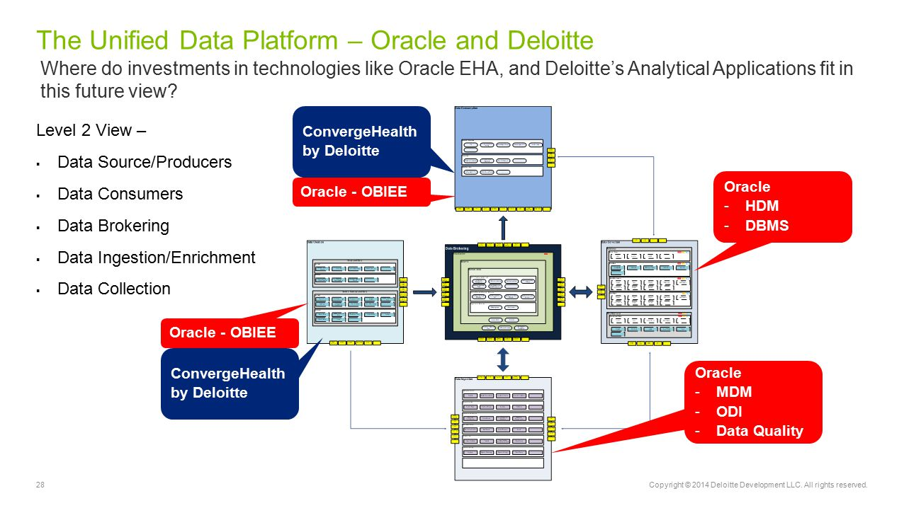The Unified Data Platform – Oracle and Deloitte