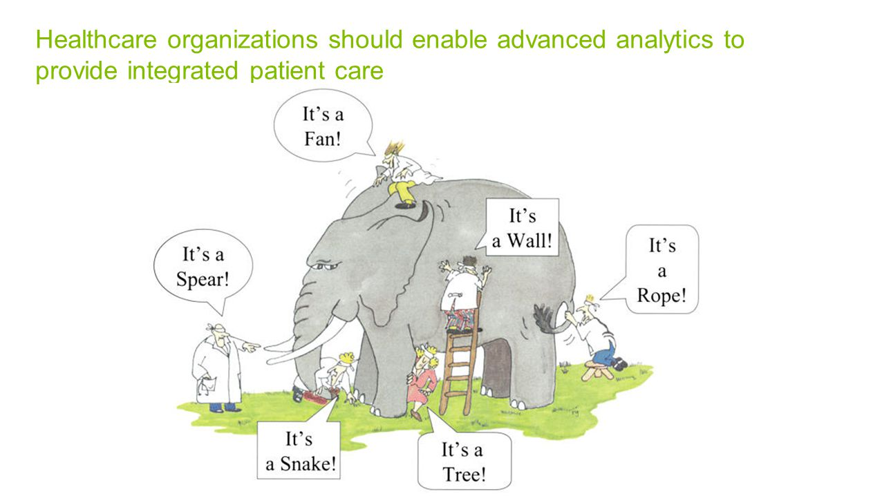 Healthcare organizations should enable advanced analytics to provide integrated patient care