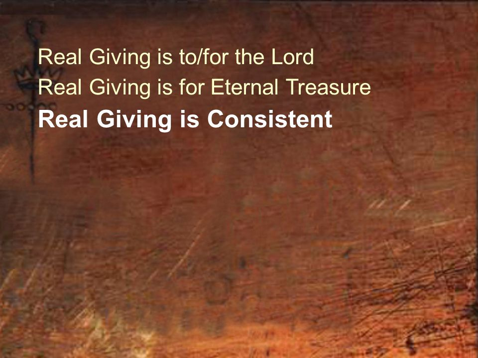 Real Giving is Consistent