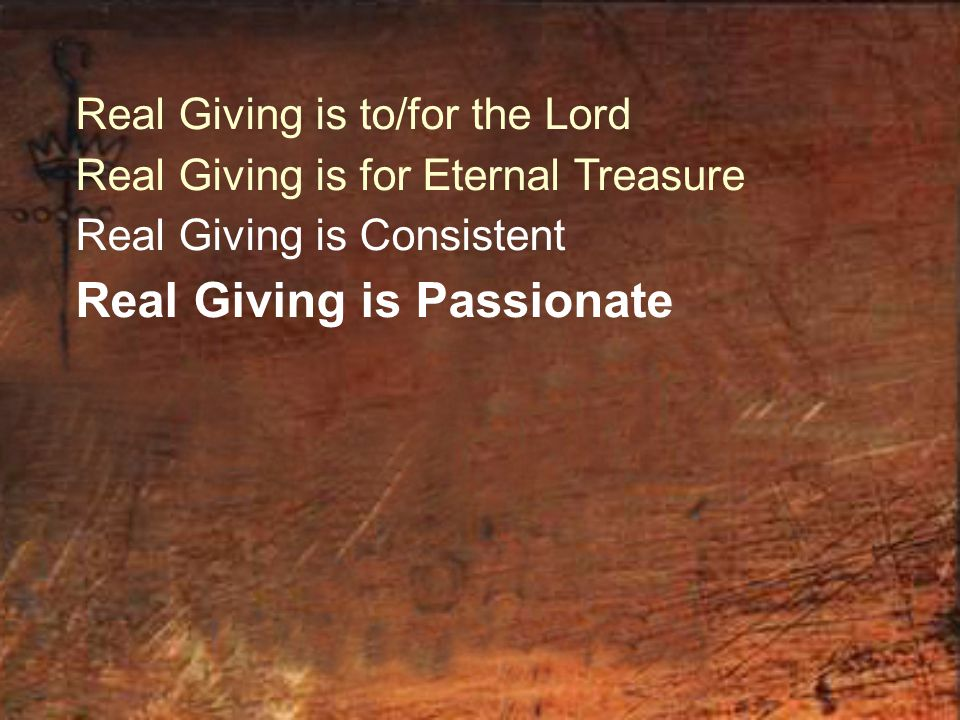 Real Giving is Passionate