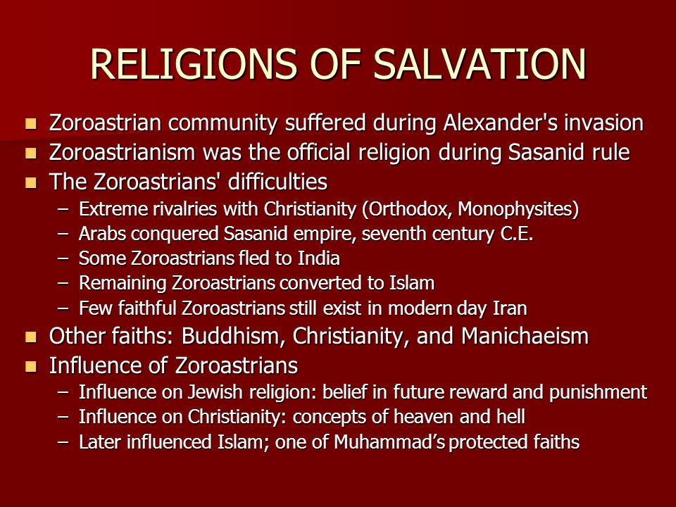 RELIGIONS OF SALVATION