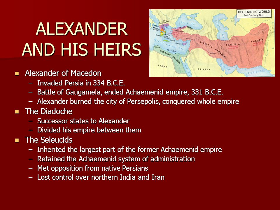 ALEXANDER AND HIS HEIRS