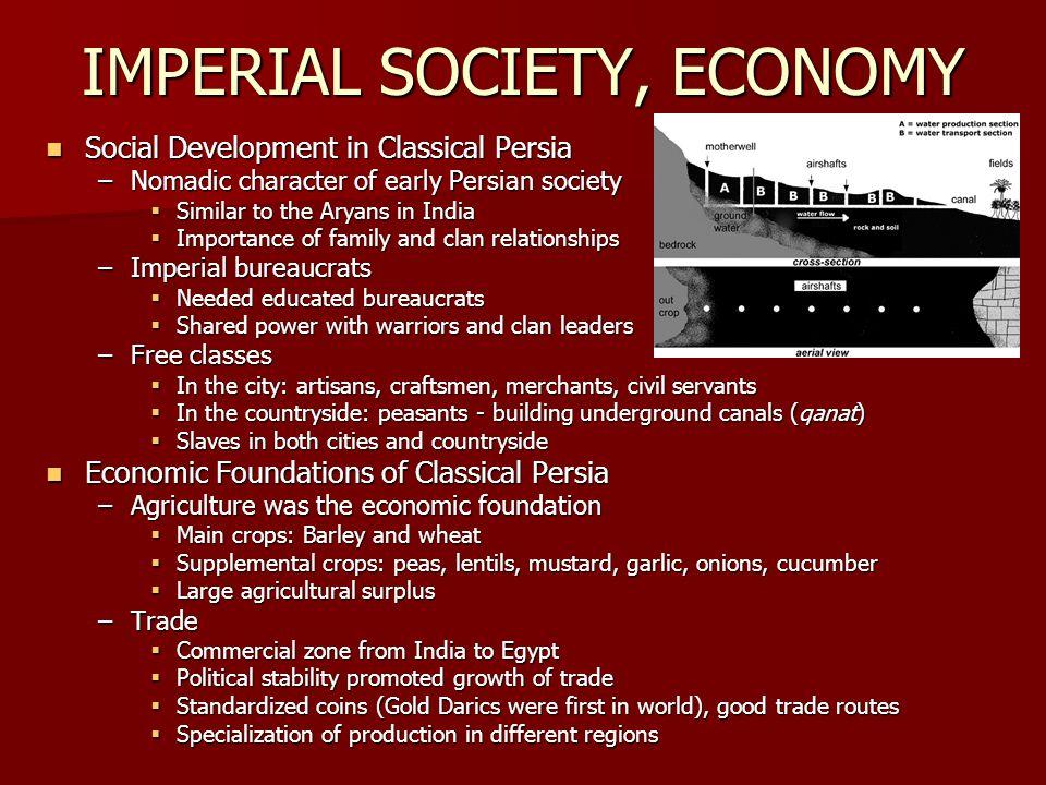 IMPERIAL SOCIETY, ECONOMY