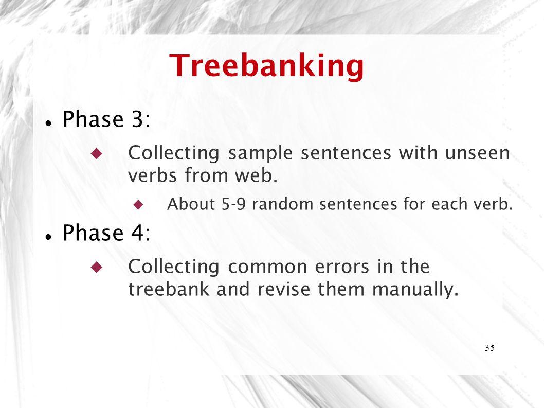 Treebanking Phase 3: Phase 4: