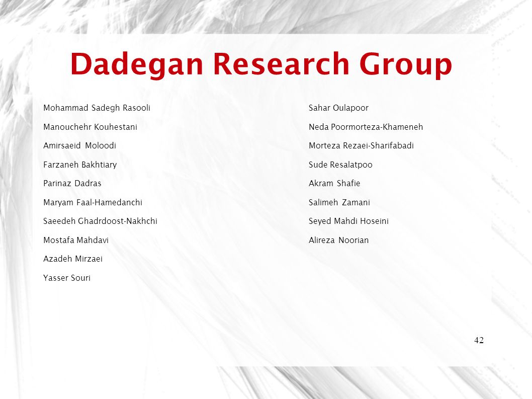 Dadegan Research Group