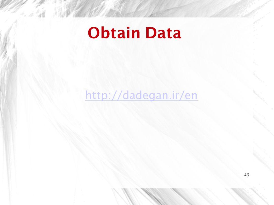 Obtain Data http://dadegan.ir/en