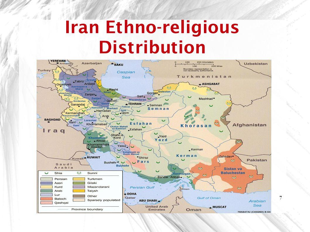 Iran Ethno-religious Distribution