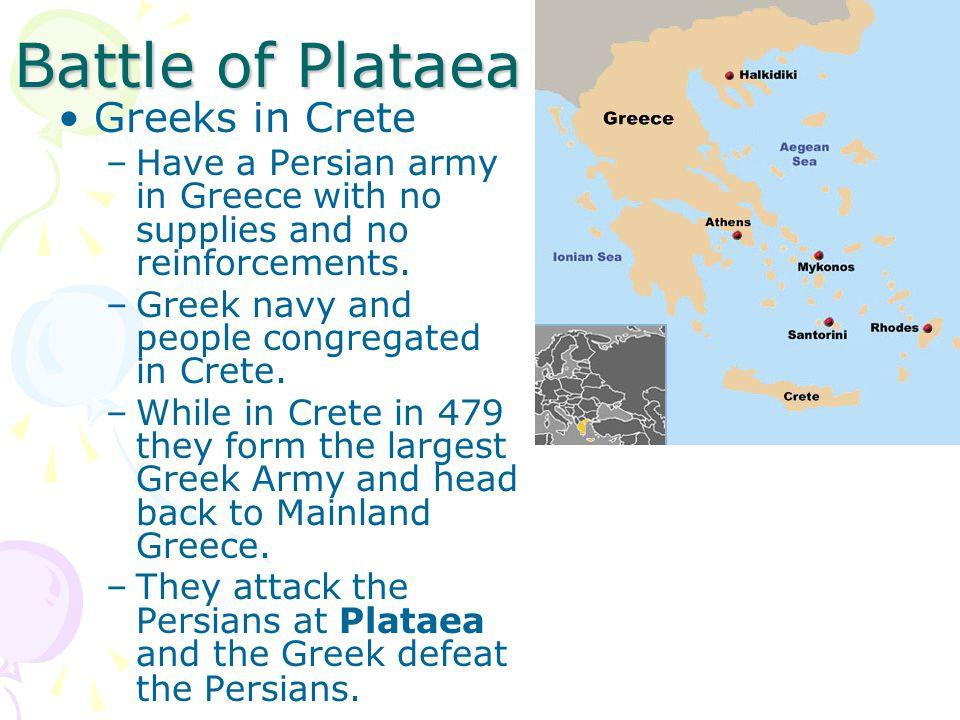 Battle of Plataea Greeks in Crete