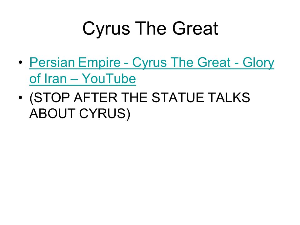 Cyrus The Great Persian Empire - Cyrus The Great - Glory of Iran – YouTube.