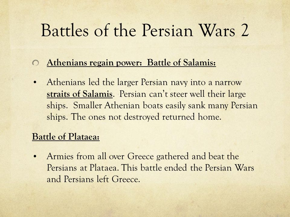 Battles of the Persian Wars 2