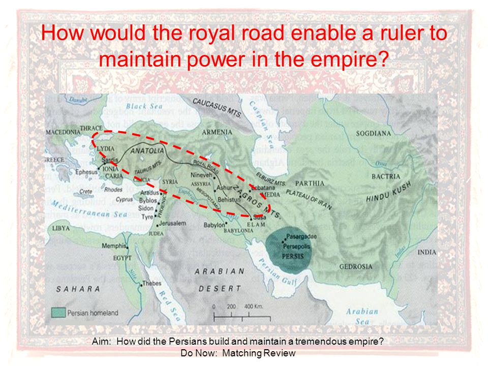How would the royal road enable a ruler to maintain power in the empire