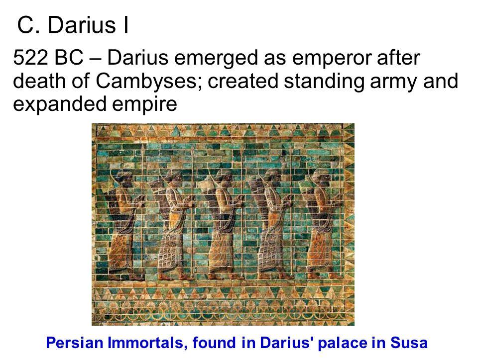 Persian Immortals, found in Darius palace in Susa