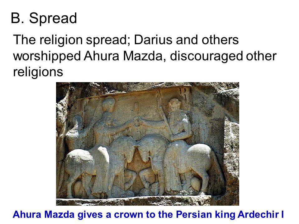 Ahura Mazda gives a crown to the Persian king Ardechir I