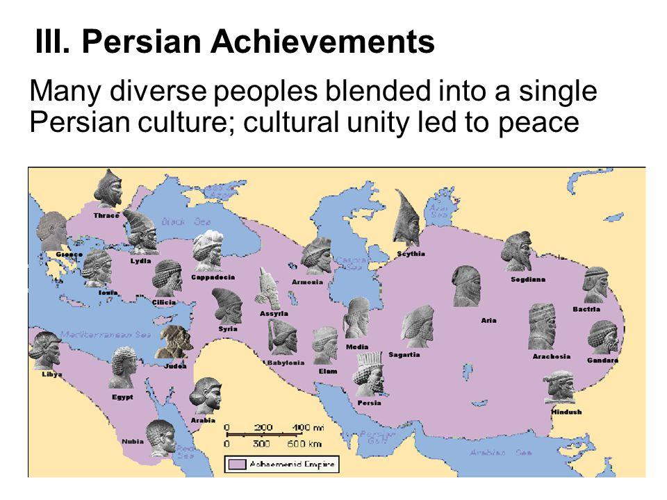 III. Persian Achievements