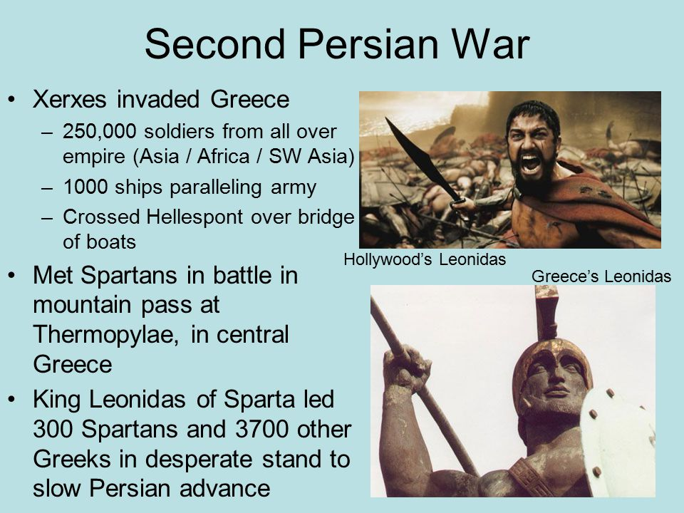 Second Persian War Xerxes invaded Greece