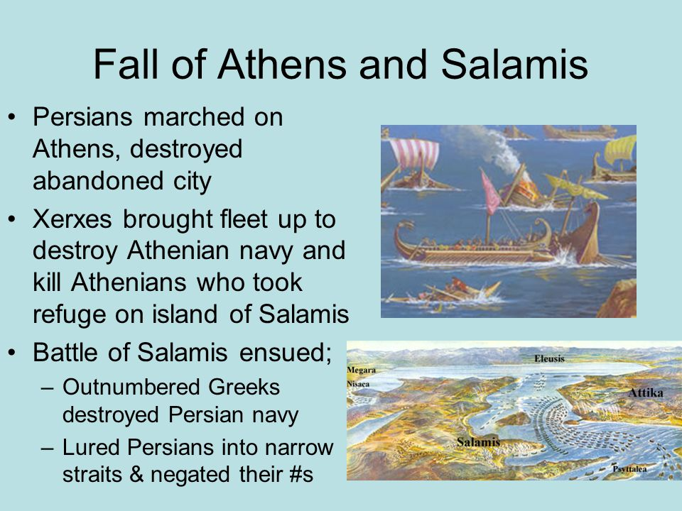 Fall of Athens and Salamis