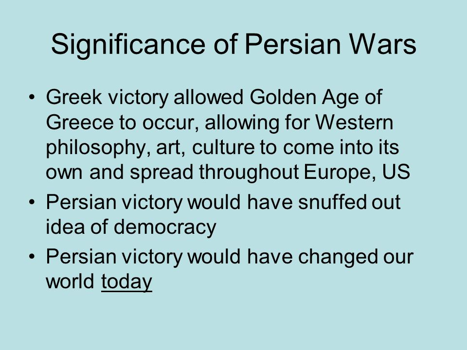 Significance of Persian Wars