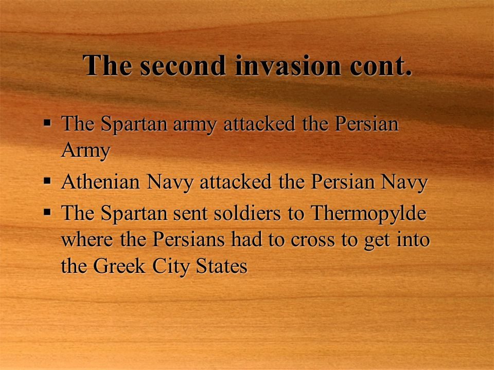 The second invasion cont.