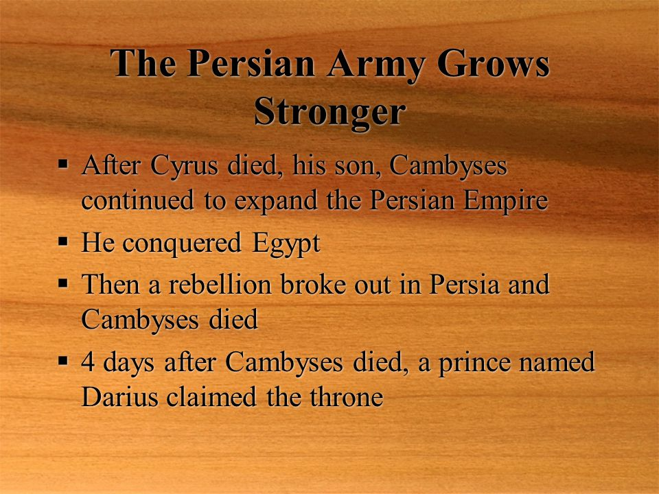 The Persian Army Grows Stronger